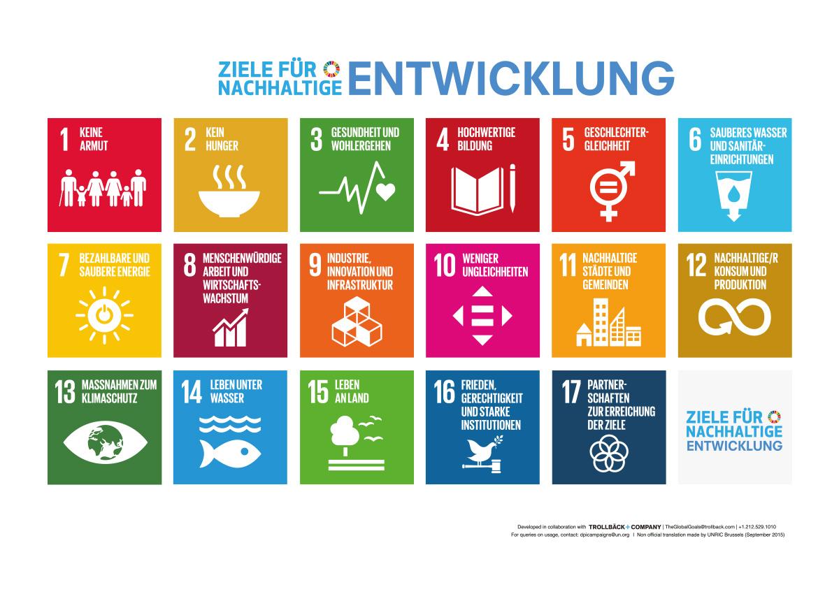 Ziele nachhaltiger Entwicklung